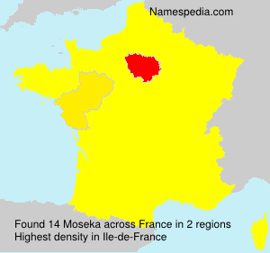 Surname Moseka in France