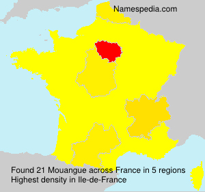 Surname Mouangue in France