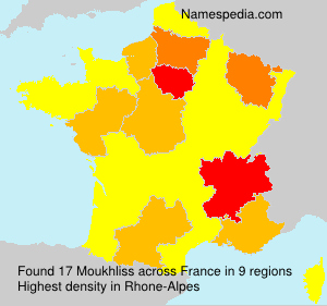 Surname Moukhliss in France