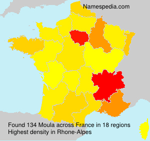 Surname Moula in France