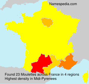 Surname Moulettes in France