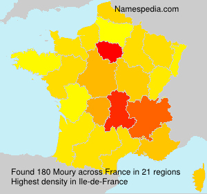 Surname Moury in France