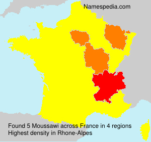 Surname Moussawi in France