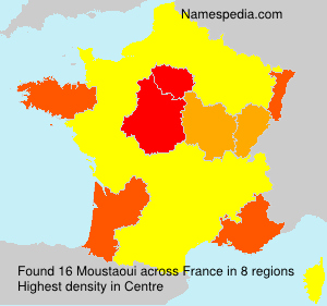 Surname Moustaoui in France