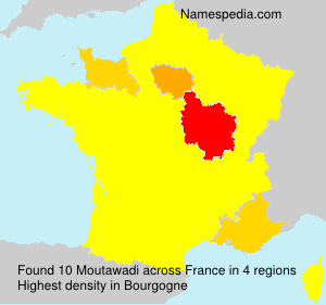 Surname Moutawadi in France