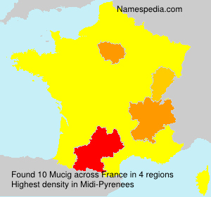 Surname Mucig in France