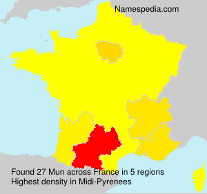 Surname Mun in France