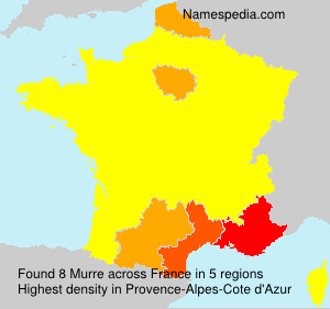 Surname Murre in France