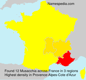 Surname Musacchia in France
