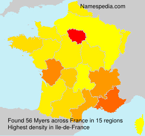 Surname Myers in France