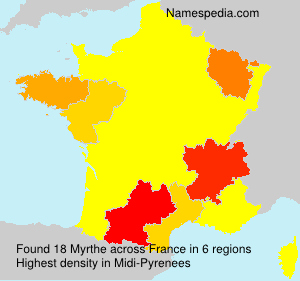 Surname Myrthe in France
