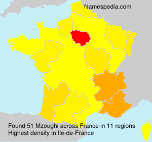 Surname Mzoughi in France