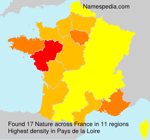 Surname Nature in France