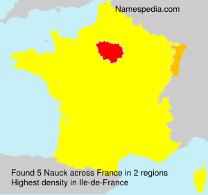 Surname Nauck in France