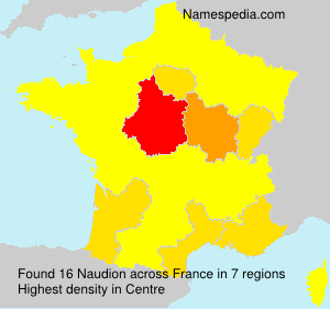 Surname Naudion in France