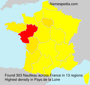 Surname Naulleau in France