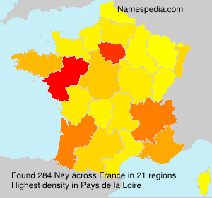 Surname Nay in France