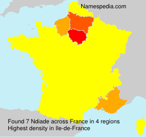 Surname Ndiade in France