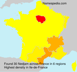 Surname Nedjam in France