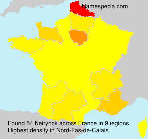 Surname Neirynck in France