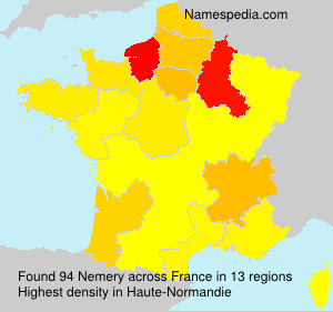 Surname Nemery in France