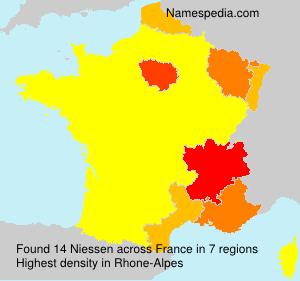 Surname Niessen in France