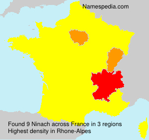Surname Ninach in France