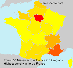 Surname Nissen in France