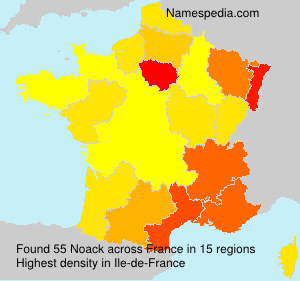 Surname Noack in France