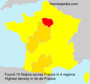 Surname Noboa in France