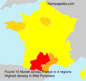 Surname Nonell in France