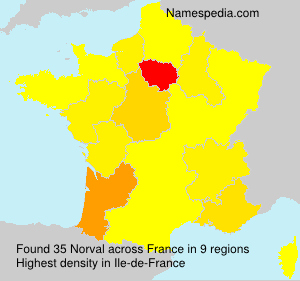 Surname Norval in France
