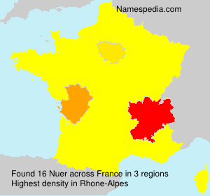Surname Nuer in France