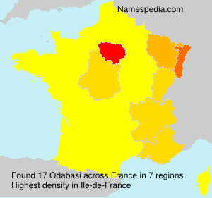 Surname Odabasi in France