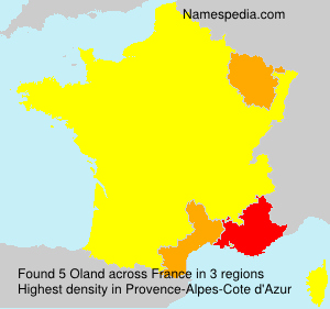 Surname Oland in France