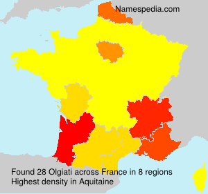 Surname Olgiati in France