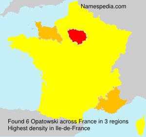 Surname Opatowski in France