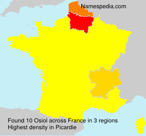 Surname Osiol in France
