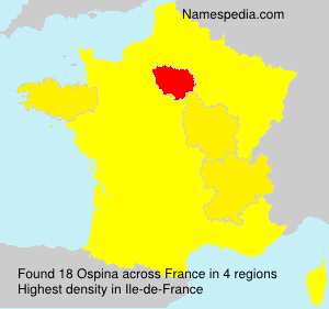 Surname Ospina in France
