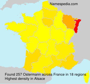 Surname Ostermann in France