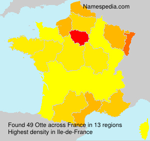 Surname Otte in France