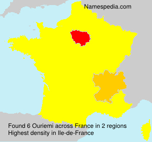 Surname Ouriemi in France