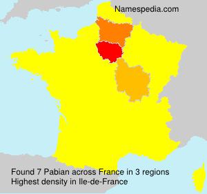Surname Pabian in France