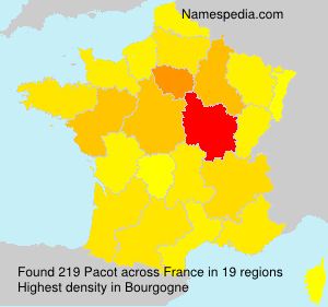 Surname Pacot in France