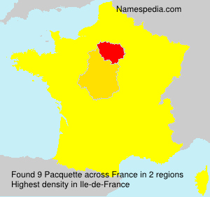 Surname Pacquette in France