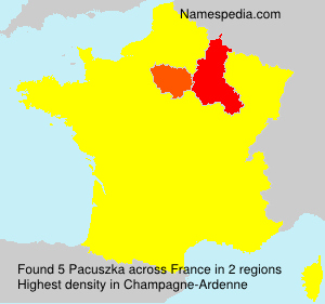 Surname Pacuszka in France
