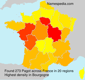 Surname Pagot in France