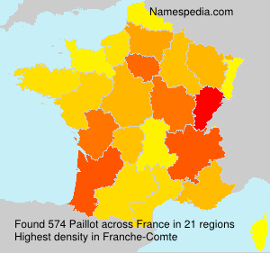 Surname Paillot in France