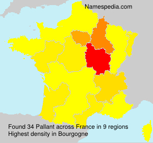 Surname Pallant in France
