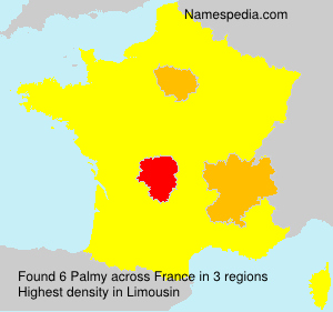 Surname Palmy in France